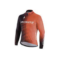 Jacheta ciclism SPECIALIZED Element SL Team Expert Jersey LS Rocket Red/Black Faze XXL