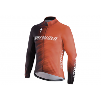 Jacheta ciclism SPECIALIZED Therminal SL Team Expert Jersey LS Rocket Red/Black Faze L