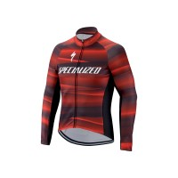 Tricou SPECIALIZED Therminal SL Team Expert LS - Black/Red XL