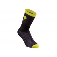 Sosete SPECIALIZED SL Elite Winter - Black/Neon Yellow L