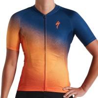 Tricou SPECIALIZED Women's SL SS - Orange Sunset/Dark Blue XL