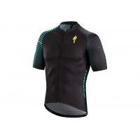 Tricou SPECIALIZED SL Expert SS Jersey -  Black/Nice Blue Aspect M