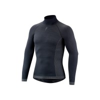 Bluza SPECIALIZED Seamless LS Layer with Roll Neck - Dark Grey M/L